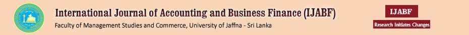International Journal of Accounting & Business Finance (IJABF)